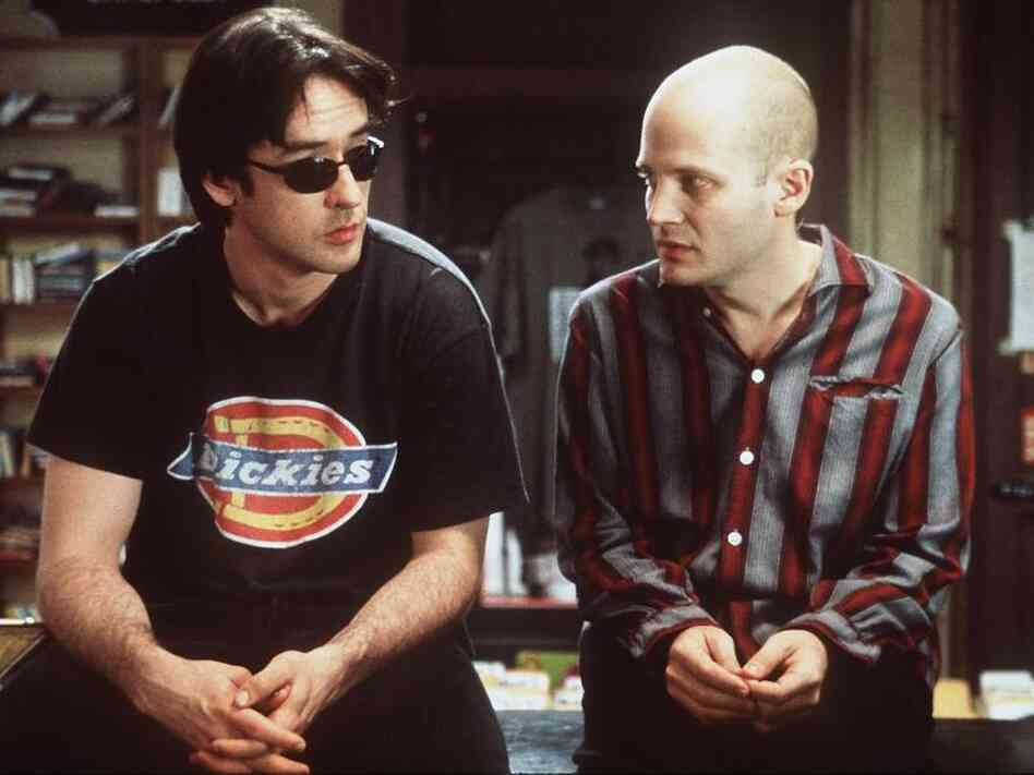 Stressed-out music junkies, take heart. (Still from the film High Fidelity, adapted from Nick Hornby's novel.)