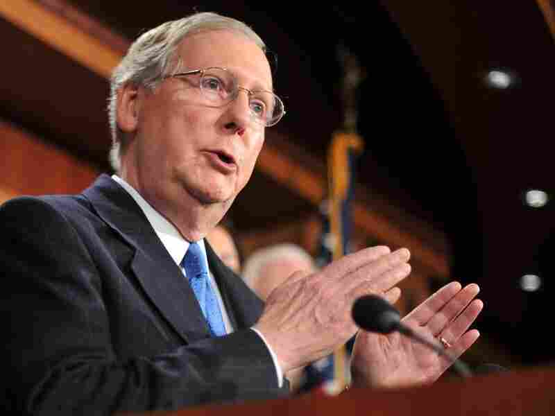 """Senate Minority Leader Mitch McConnell (R-KY), shown in this undated photo, says Republicans are ready and willing to take the lead on overhauling Social Security. """"Something must be done,"""" he says. """"Where is the president? Suddenly, at the moment when we can actually do something about this, he's silent."""""""