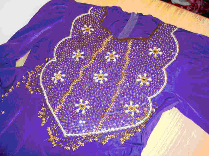 An elaborate Afghan dress made by Kamila and her team of dressmakers. Courtesy Gayle Tzemach Lemmon.