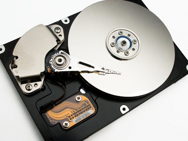 A computer hard drive, the preferred place to keep music in the age of the MP3.