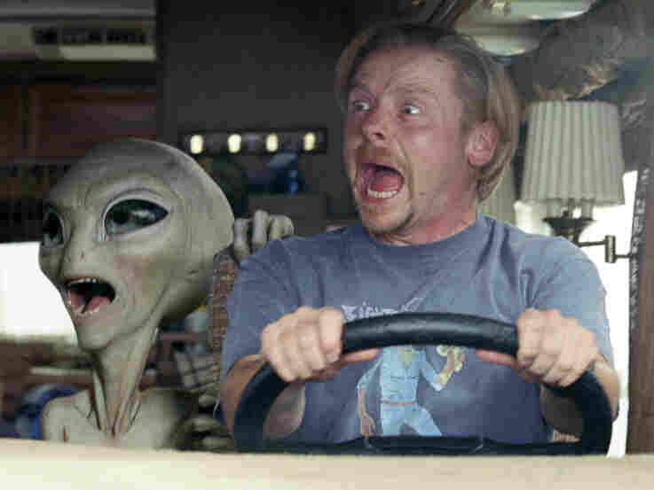 After Paul breaks out of Area 51, he accompanies the guys on a cross-country road trip, looking always for an escape to his home planet.