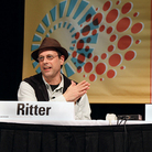 This shot captures me (left) speaking with singer-songwriter and now novelist Josh Ritter (right) about his upcoming book Bright's Passage in part of Interactive SXSW.