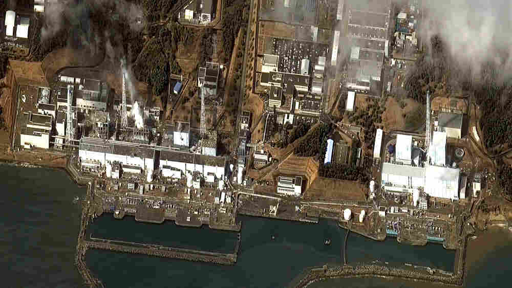 A DigitalGlobe  satellite image received Wednesday shows damage after the March 11  earthquake and tsunami at the Fukushima Dai-ichi power plant in  Japan.