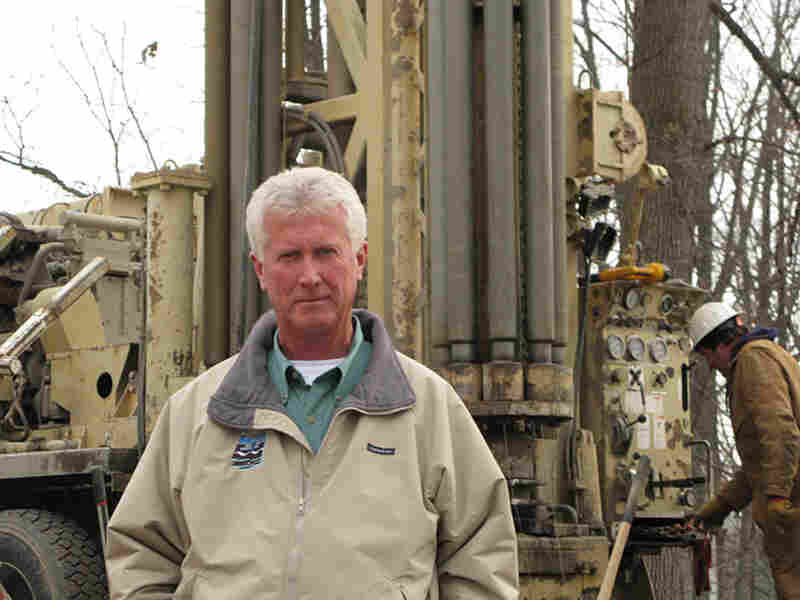 Mike Barlow has been installing geothermal systems for 20 years. But he says a 30 percent federal tax credit is increasing the popularity of the systems for families with modest houses.