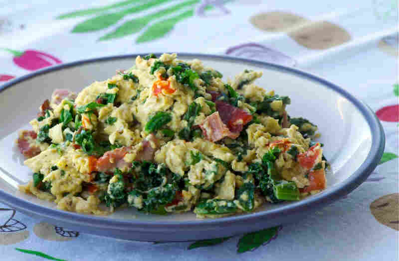 Bacon, Greens And Egg Scramble