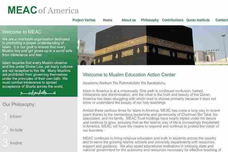 Project Veritas created this website for the fictional Muslim Education Action Center.