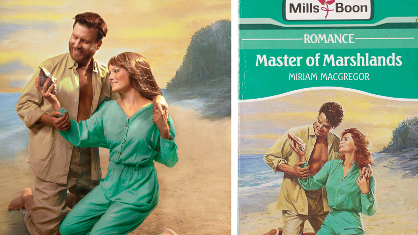 Romance Book Cover Keyboard : Couple re creates harlequin romance book covers the