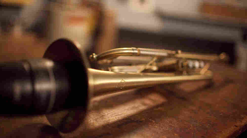 We lay our trumpet down.