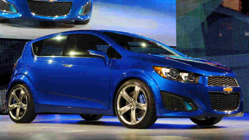 The Chevrolet Aveo is one of the smaller, more fuel-efficient cars American automakers have rolled out.