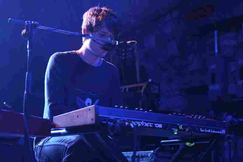 Bathed in blue light for much of his set, James Blake crafted a show that was alternately ghostly in its beauty and knee-rattling in its bass-heavy rumble.