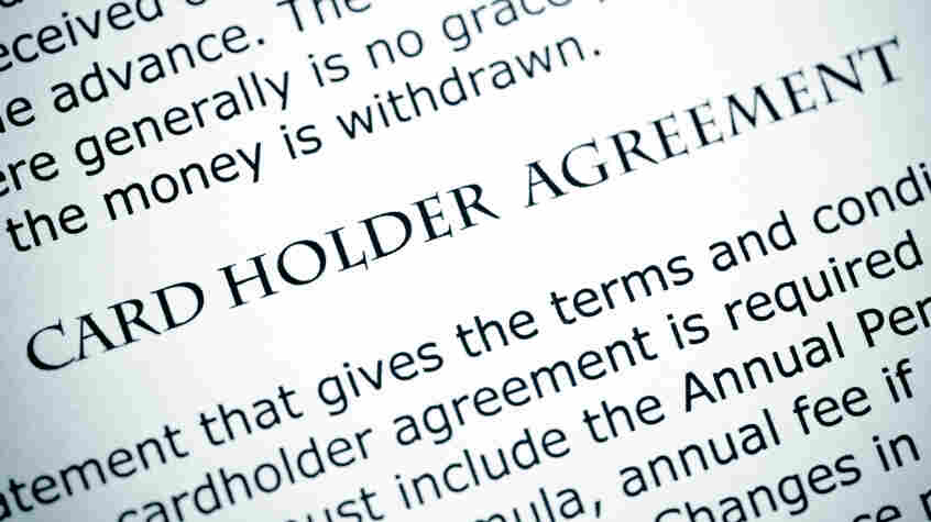 Card holder agreement
