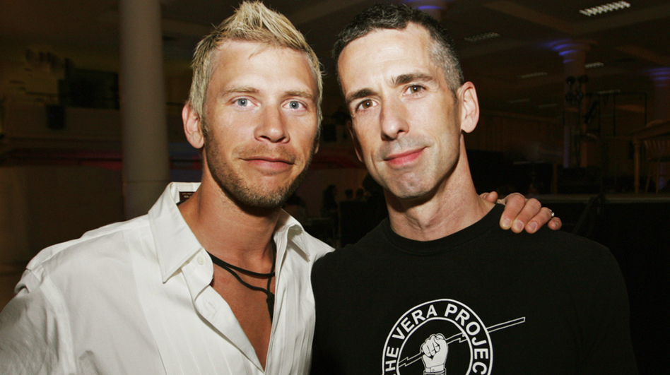 "Terry Miller (left) and Dan Savage. Savage writes the weekly syndicated sex advice column ""Savage Love."" (Dutton Adult)"