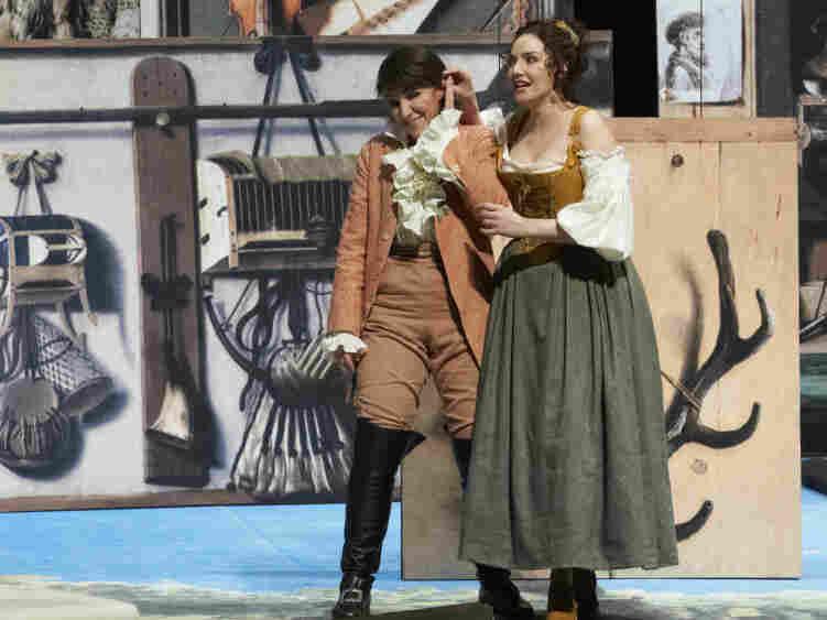 The young Cherubino (Anna Bonitatibus, left), lets his lusty attitude get him into trouble.