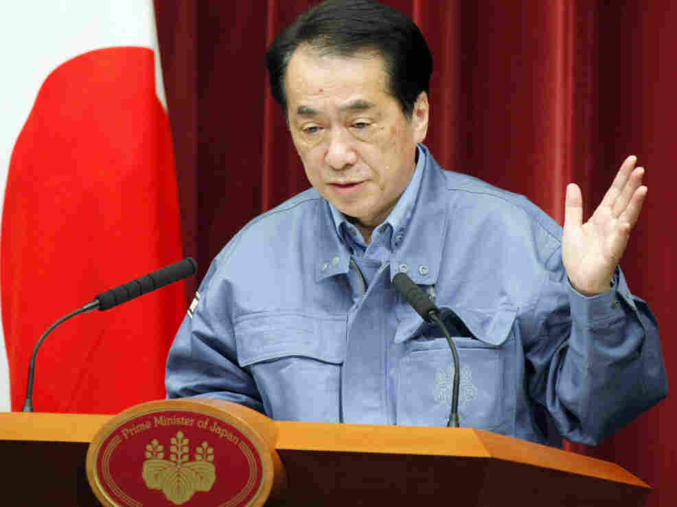 Japanese Prime Minister Naoto Kan speaks at a Tokyo news conference, March 15, 2011.