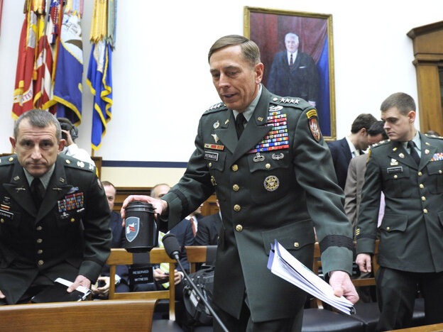 Gen. David Petraeus on Capitol Hill, Wednesday, March 16, 2011.