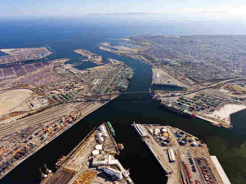 """""""We have a steady-state system, where every container is examined,"""" security chief Capt. Ron Boyd says of efforts to monitor for radiation at the Port of Los Angeles."""