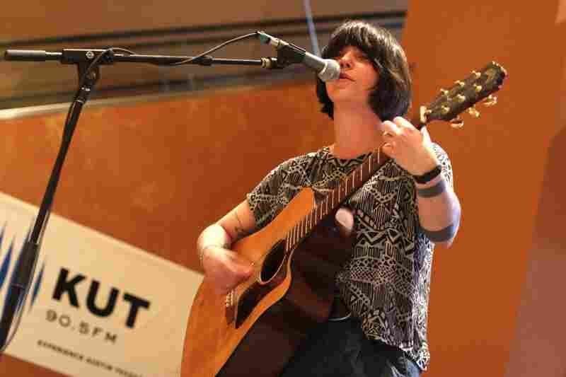 You can't see it here, but the audience likely wept with joy while Sharon Van Etten played her vulnerable songs for KUT.