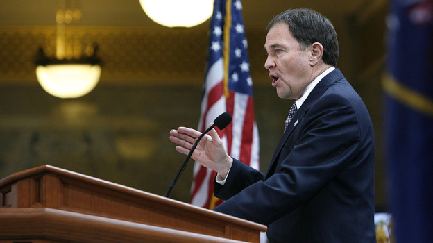 Gov. Gary R. Herbert recently signed four immigration bills that bring sweeping changes to his state's laws. Here, Herbert speaks after his inauguration in January. (AP)