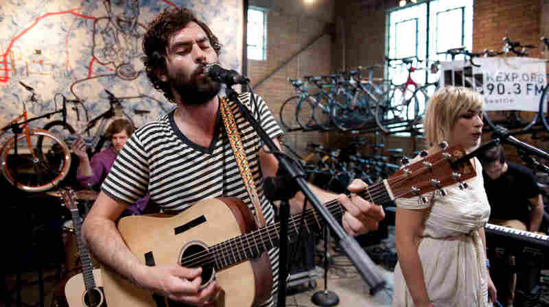The Head and The Heart performed live on KEXP from Mellow Johnny's Bike Shop in downtown Austin for SXSW.