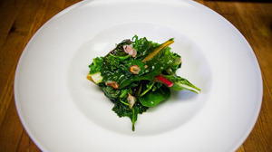 Wilted  Hardy Greens with Garlic