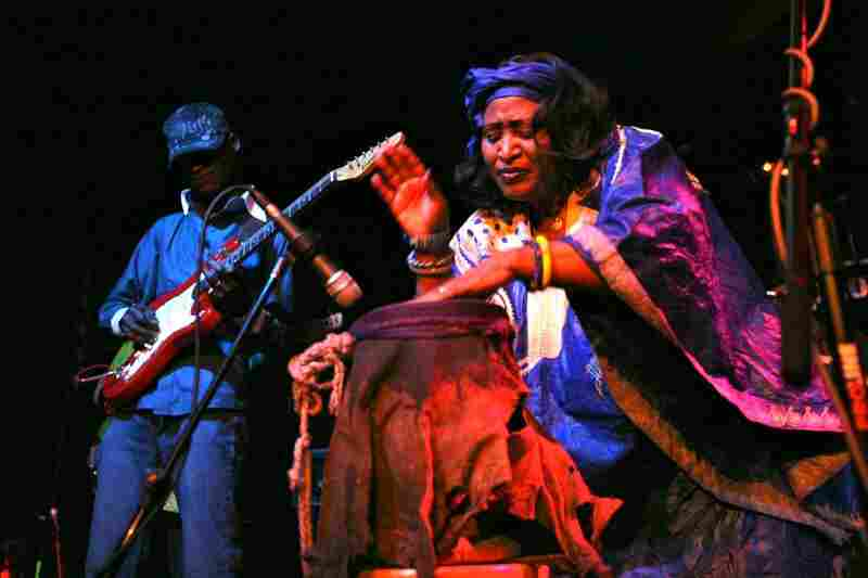 The queen of Malian desert rock, Khaira Arby, presided over a small army of brilliant African musicians, who created a hypnotic backdrop for her gloriously swooping vocals at The Parish.
