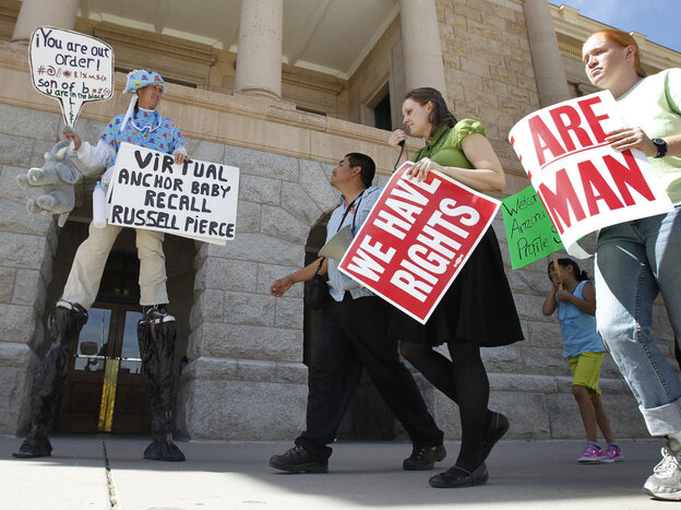 Protesters against the latest immigration bills in Arizona, March 17, 2011.