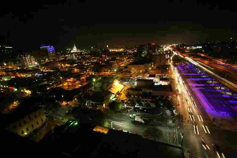 Nighttime over Austin.