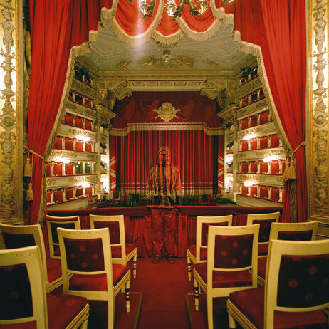 The artist has taken photos for his Invisible Man series all around the world, including at La Scala, the renowned opera house in Milan, Italy.
