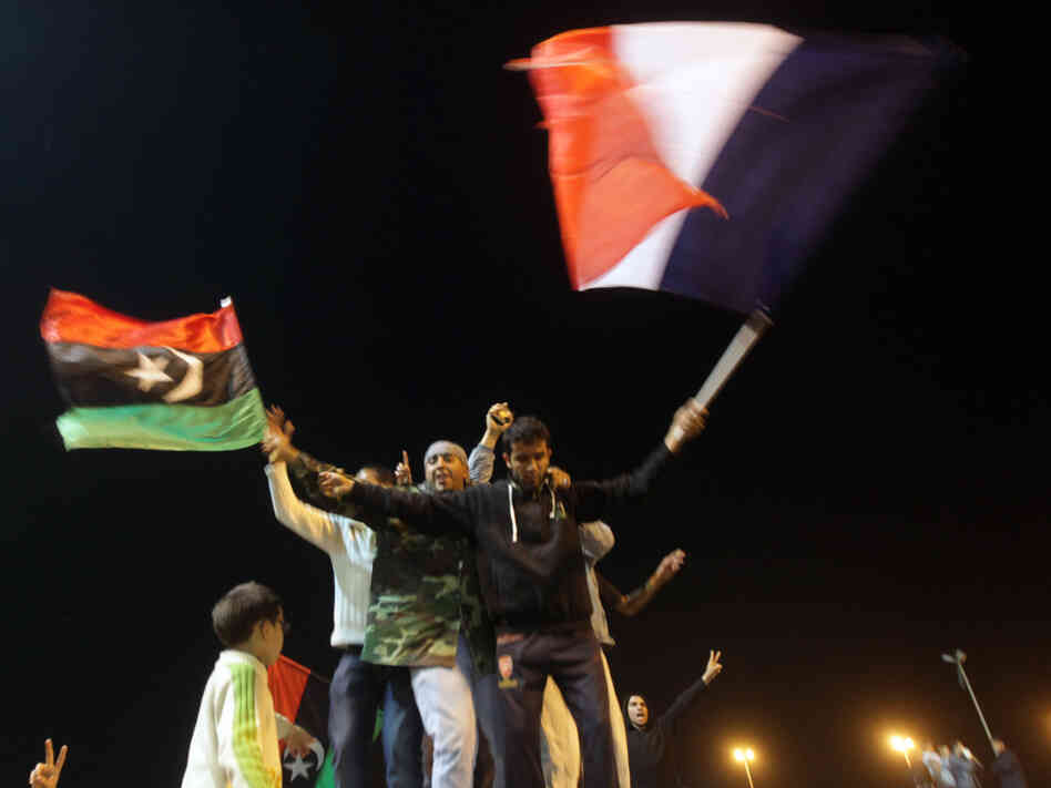 There were celebrations in Benghazi, Libya, last night when people heard that the U.N. Security Council had authorized the use of military force against the regime of Col. Moammar Gadhafi.