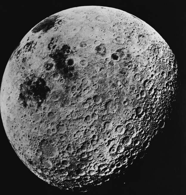 "It won't look this big, but it will be ""super."" (File photo of the far side of the moon, taken by astronauts aboard the Apollo 16 mission, on July 10, 1972.)"