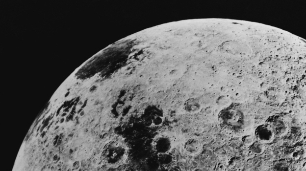 """It won't look this big, but it will be """"super."""" (File photo of the far side of the moon, taken by astronauts aboard the Apollo 16 mission, on July 10, 1972.) (Getty Images)"""