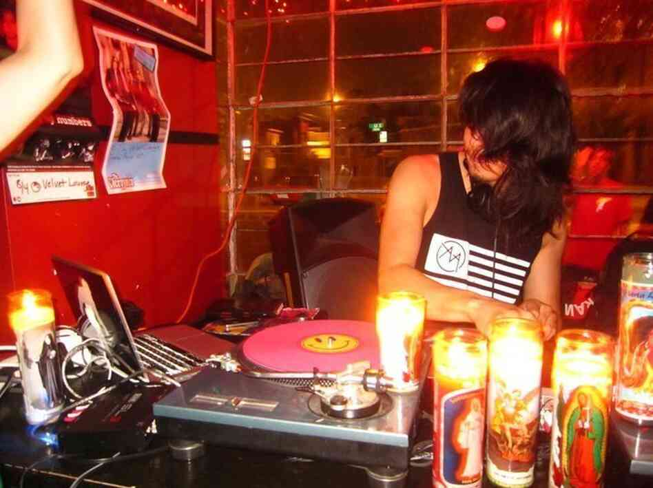 DJ Dave Nada performs at the Velvet Lounge in Washington, D.C.