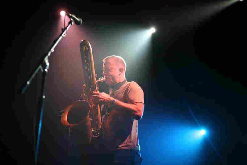Saxophonist Colin Stetson created vivid, enveloping, seemingly free-form soundscapes during his opening set at The Parish.