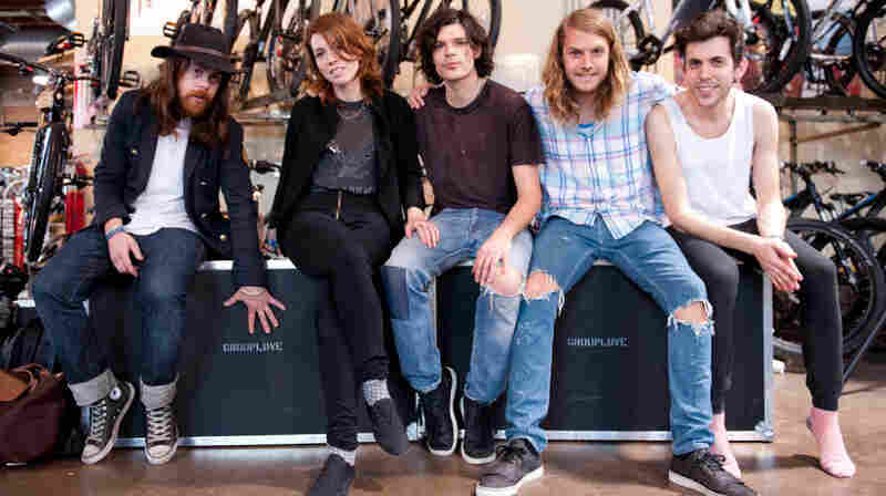 Los Angeles band Grouplove performed live at Mellow Johnny's Bike Shop on KEXP.