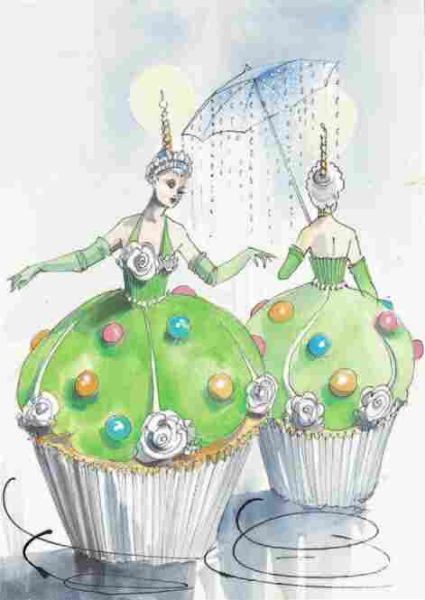 Tim Chappel and Lizzy Gardiner also created the original design of the cupcake costume for Priscilla's Broadway debut...