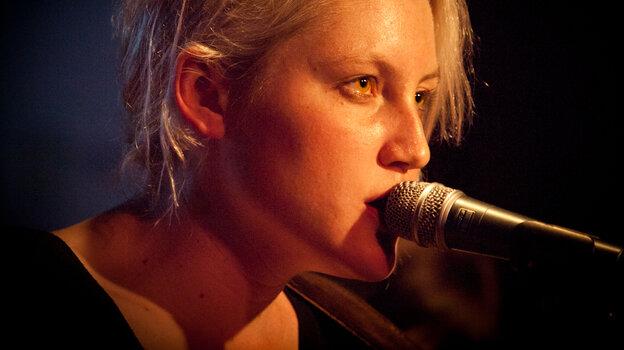 Texas native Sarah Jaffe performs at KUT's SXSW showcase at Momo's in Austin.