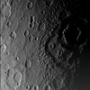 The surface of Mercury is seen in a picture taken by NASA's Messenger spacecraft as it approached the planet during a fly-by on January 14, 2008. The image was taken about 11,000 miles from the planet and shows a region 300 miles across.