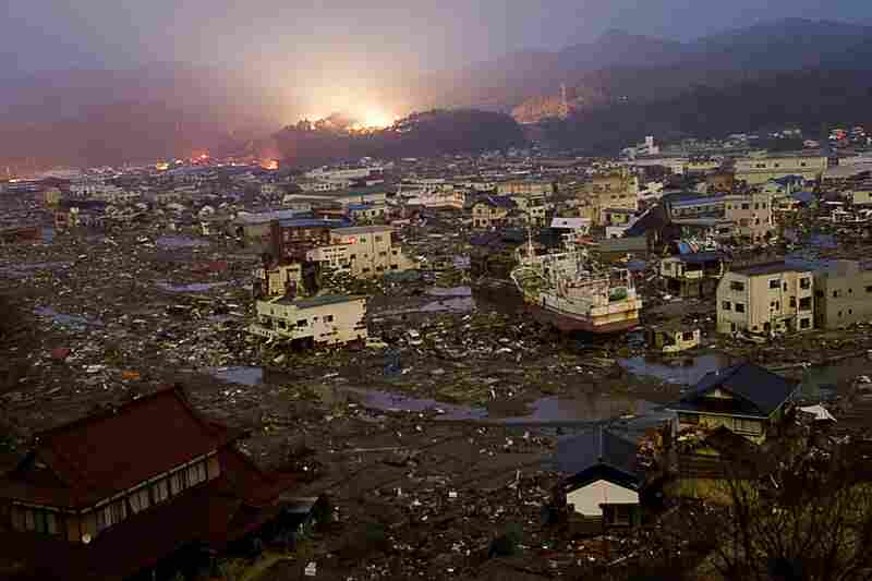 Destruction reigns in the city of Kessennuma, Miyagi prefecture on March 20.