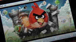 "An image of the popular video game ""Angry Birds."""