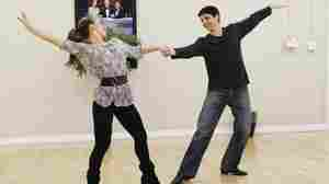 Karate Kid star Ralph Macchio (right) dances with his partner, Karina Smirnoff, in rehearsals for the new season of ABC's Dancing With The Stars, which returns Monday night.