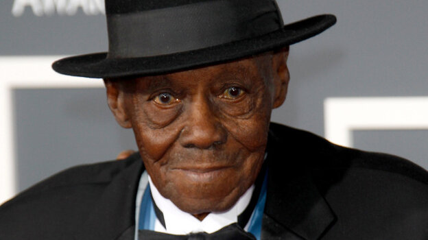 Singer Pinetop Perkins at the 2011 Grammys in February. His win that night, in the category of Best Traditional Blues Album, made him the oldest person to ever win a Grammy.