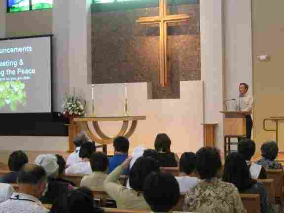 Congregants at the West Los Angeles United Methodist Church gathered $8,000 on their first day of fundraising for the earthquake and tsunami victims in Japan.