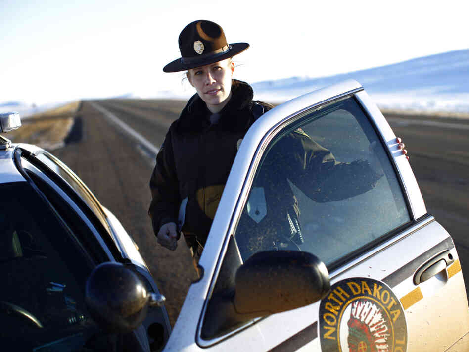 Megan Christopher, a North Dakota state trooper, was one of the first officers on the scene and was part of the chase that led to the arrest of Brock Savelkoul.