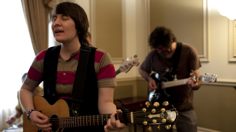 Sea of Bees performed live in a room at The Driskill Hotel during SXSW 2011 in Austin, Texas. (NPR)