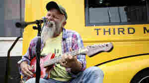Seasick Steve performs as part of Third Man Records Rolling Record Store's public debut at SXSW 2011 in Austin, Texas.