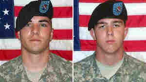 Morlock, left, and Holmes. Two of the soldiers charged in the incident.