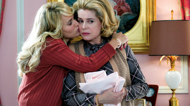 Domestic Goddess: Suzanne (Catherine  Deneuve, right, with Judith Godreche) is content to bear both her husband's  neglect and her daughter's pity — until a crisis offers the opportunity to prove  her mettle.
