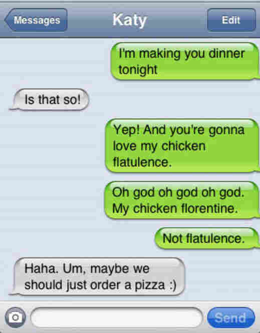Unfortunate autocorrects can ruin dinner plans...