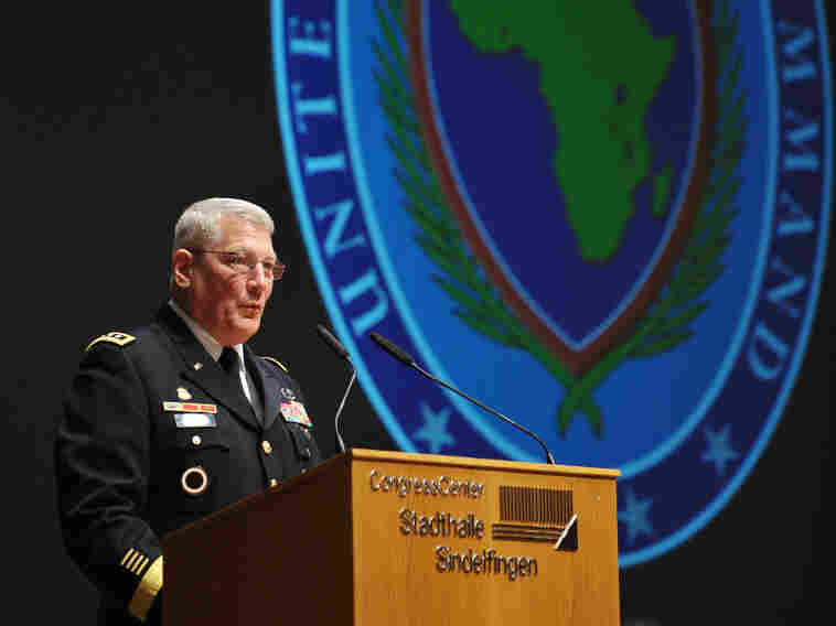 Gen. Carter Ham takes over as head of U.S. Africa Command, near Stuttgart, Germany, on March 9. Ten days after he took the job, Ham was in charge of the military operations against Libya.