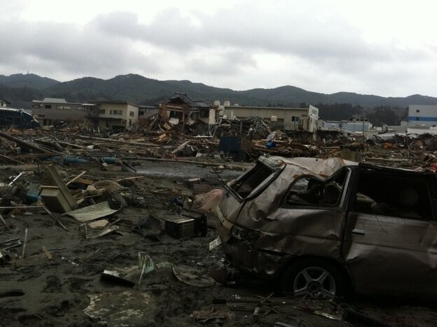 In the once busy port of Kesennuma, almost nothing remains whole.